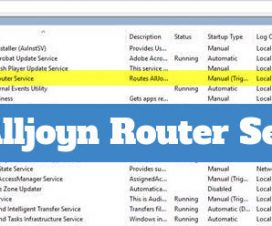 alljoyn router service what is